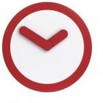 Ρολόι τοίχου Focus Red www.octopus.gr