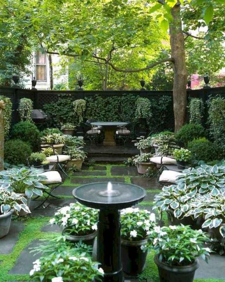 διακοσμηση αυλης σπιτιου ιδεες φωτογραφιες διαμορφωση αυλη με γλαστρες με πετρα χωριο κηπος